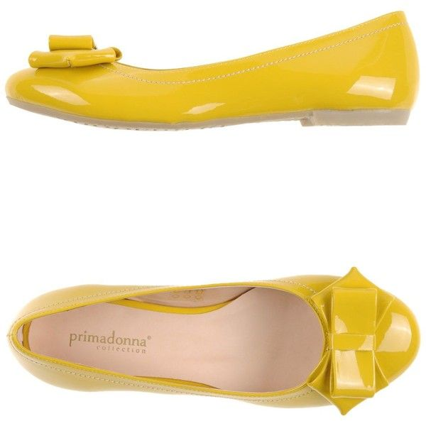 Primadonna Ballet Flats ($47) ❤ liked on Polyvore featuring shoes, flats, yellow, ballet pumps, ballet flats, round cap, yellow ballet flats и yellow shoes