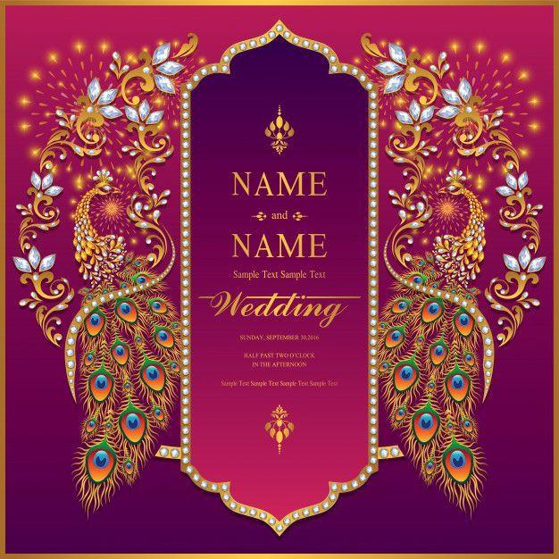 Wedding Invitation Card Templates Premium Vector In 2020 Wedding Invitation Card Template Indian Wedding Invitation Cards Wedding Invitation Cards