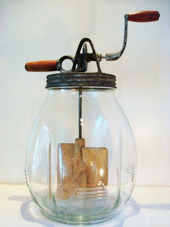 vintage butter churner