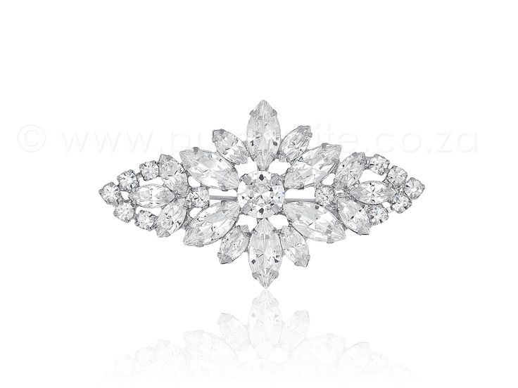 PURE WHITE - Shimmering Rhinestone Brooch 1-012, $33.50 (http://www.purewhite.co.za/shimmering-rhinestone-brooch/)