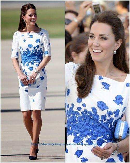 Vestidos Blancos Con Accesorios Azules Vestidos Baratos