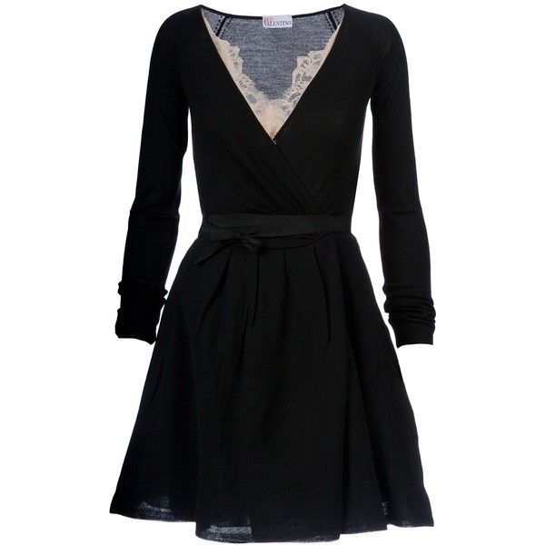 RED VALENTINO belted dress (24.665 RUB) found on Polyvore