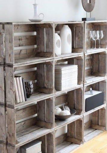 Using Crates For Storage.  #tinyhouse  #smallspace  #organization