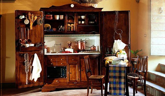 Completas cocinas y alacenas de estilo rústico