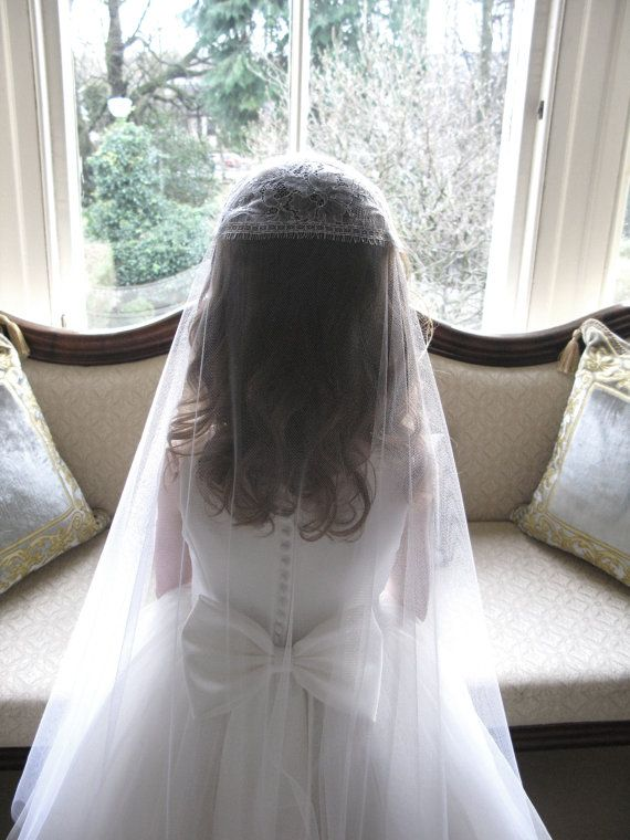 Vintage style first communion veil by SarahMorganBridal on Etsy