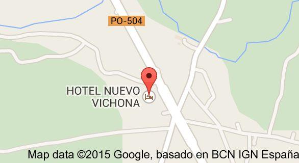 Map of HOTEL NUEVO VICHONA