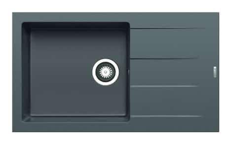 Granit-Einbauspüle ATHLOS - grau - 86x50 cm