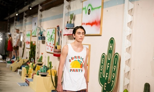 #Huffer unveiled its El Summer (Spring/Summer 12) range in an installation, #meets exhibition, meets celebration on Friday, that had punters queueing around the corner!