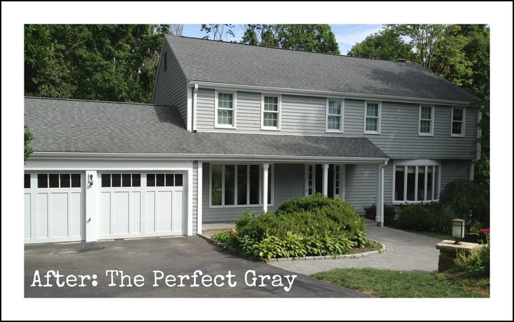 Gray And White House Gray House Landscapes Pinterest Grey Houses Grey Exterior And