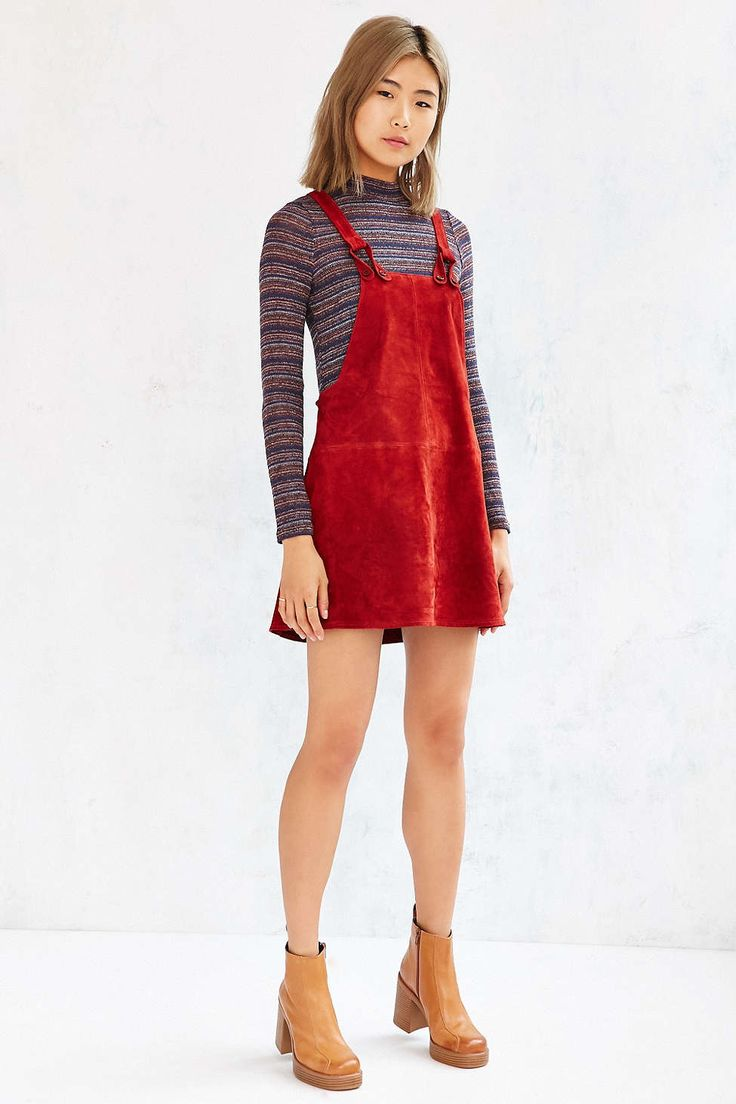 Cooperative Brandy Suede Overall Dress - Urban Outfitters