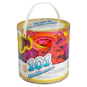 Bucket of Cookie Cutters - 101 pieces of holiday and fun shapes