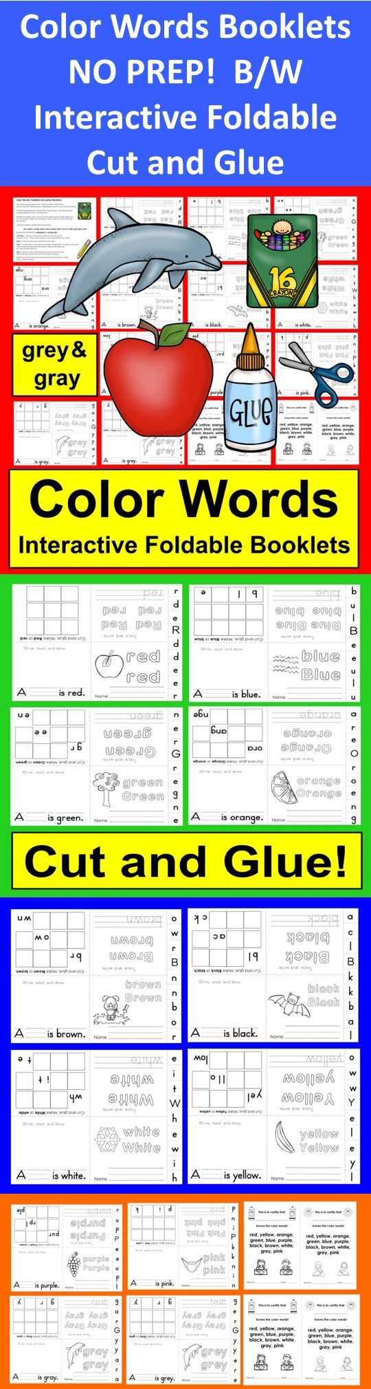 $ Number Booklets – Interactive and Foldable!   ★ Print & Go!   ★ No Prep – Students simply fold once the short way and then once more in half.   ★ Black and white… Save ink!  ★ Includes Optional Award Certificates, too!  ★ PRINT and GO!   One booklet for each number 1 – 12