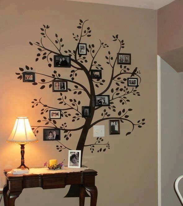 Idea: Nuestro propio árbol familiar en el living de casa!