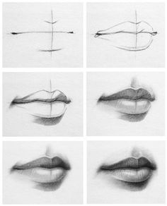 Lippen malen.                                                                                                                                                                                 Mehr