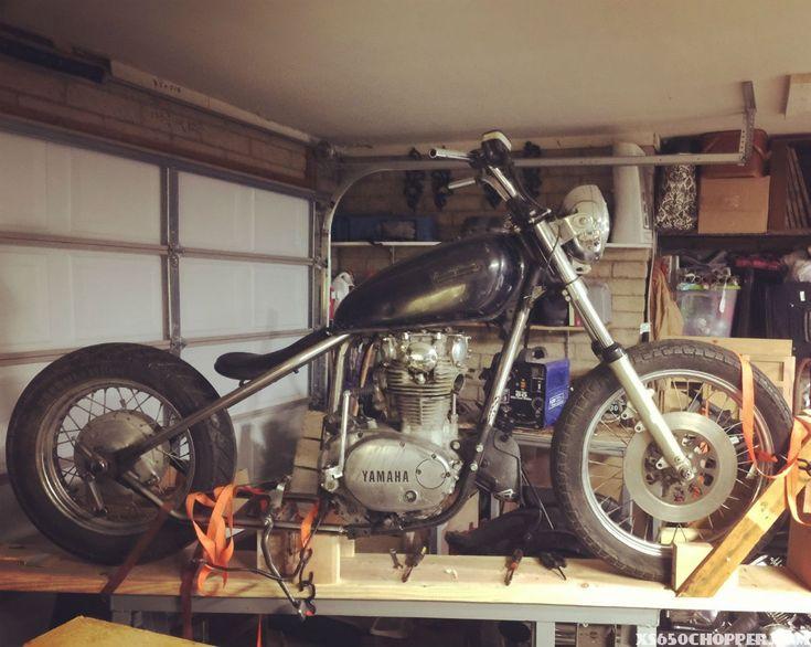 Morbid's 1981 xs 650 bobber bike which he named Tiffany