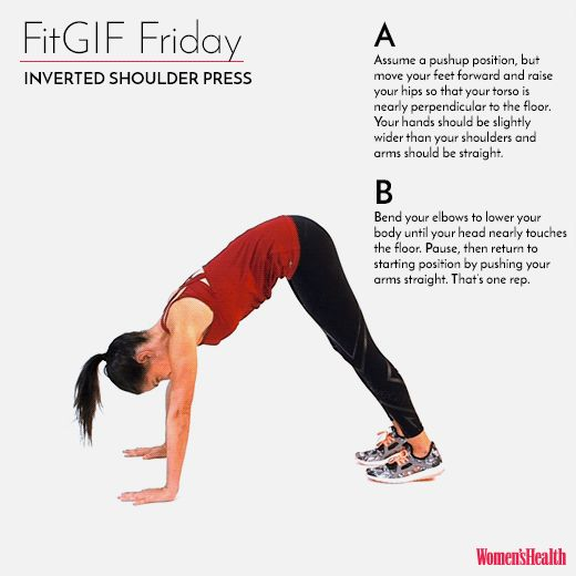 Hate Pushups? Try This Move Instead  http://www.womenshealthmag.com/fitness/fitgif-friday-inverted-shoulder-press