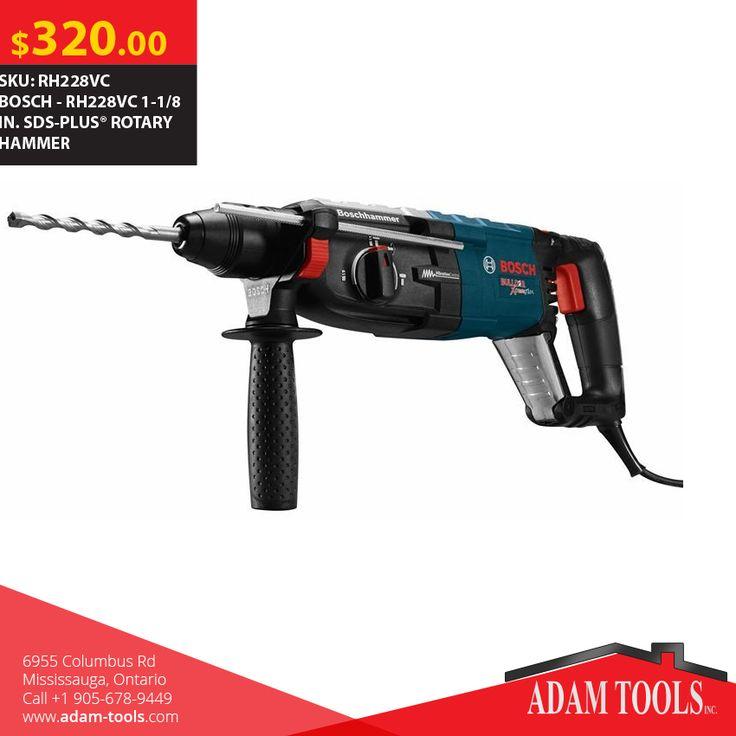 Buy BOSCH - BOSCH - RH228VC 1-1/8 IN. SDS-PLUS® ROTARY HAMMER Visit our website - http://www.adam-tools.com/rh228vc-1-1-8-in-sds-plusr-rotary-hammer.html #canada #mississuaga #power_tools #building_supplies #adamtools #shop_online #buy_online #BoschTool #Powertools #tools #Boschtools