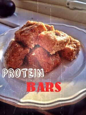 Ripped Recipes - Protein Bars - @loislovesfitness just made the BEST protein bars ever!!  @loislovesfitness  These bad boys are very easily made! and are nice and soft made with only 3 ingrediants!