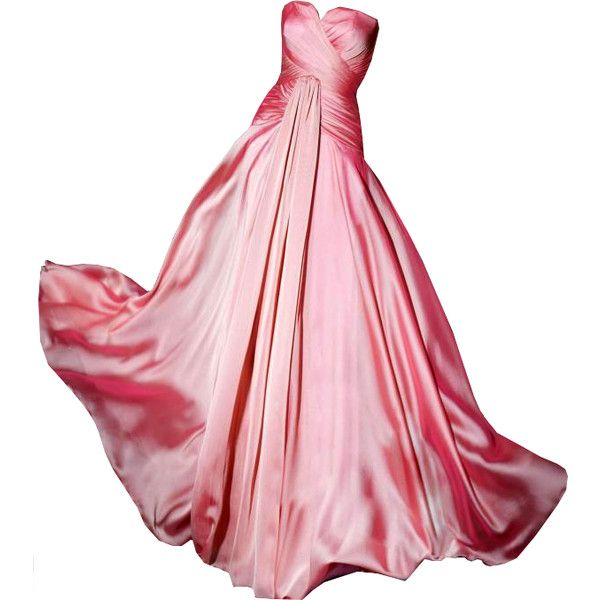 Editado por dehti ❤ liked on Polyvore featuring dresses, gowns, vestidos, long dresses, pink gown, long pink dress, pink dress and pink evening gowns