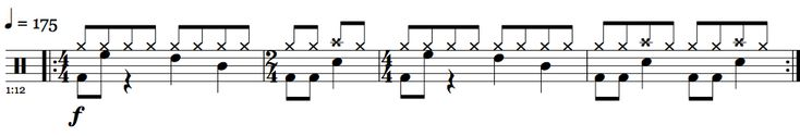 And Justice For All - Metallica - Pre-Verse Drum Beat #drums