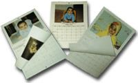 Personalized custom photo calendars! Quick and easy (large logo on bottom of each page though)