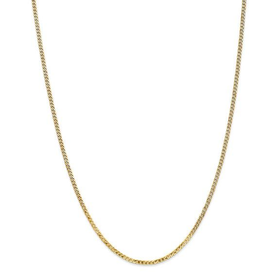 Black Bow Jewelry 1.75mm 14k Yellow Gold Classic Solid Rope Chain Bracelet /& Anklet