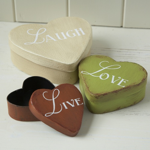 Bright Live Laugh Love Heart Box Set