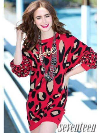 Lily Collins Seventeen Magazine shoot and interview