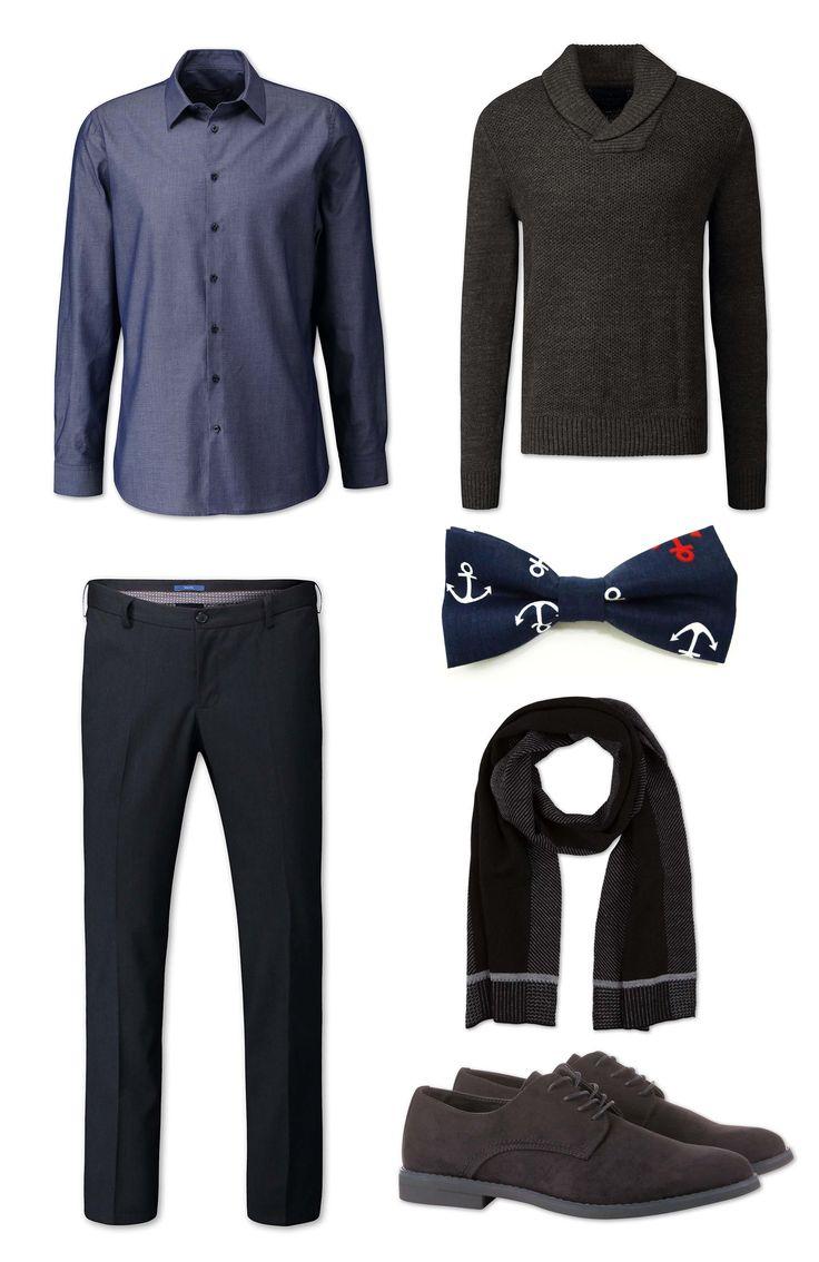 Hoy traemos el conjunto completo de pies a cabeza, jersey, pantalón, camisa, bufanda, zapatos y pajarita Hecho Un Pincel Trapani I