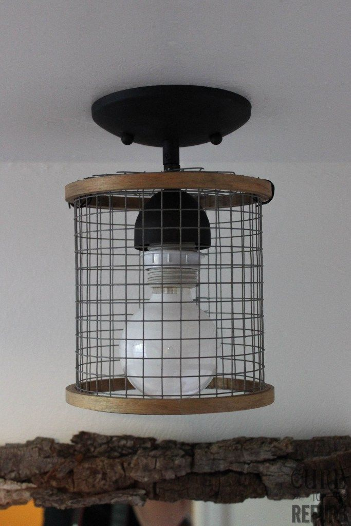 How To Make An Industrial-Farmhouse Pendant Light - CURB TO REFURB