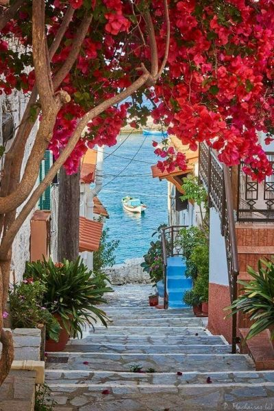 Kokkari village, Samos, Greece
