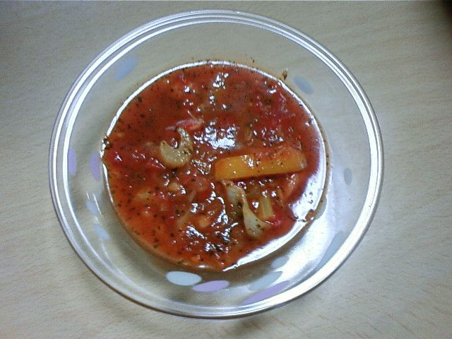 Healthy diet tomato soup