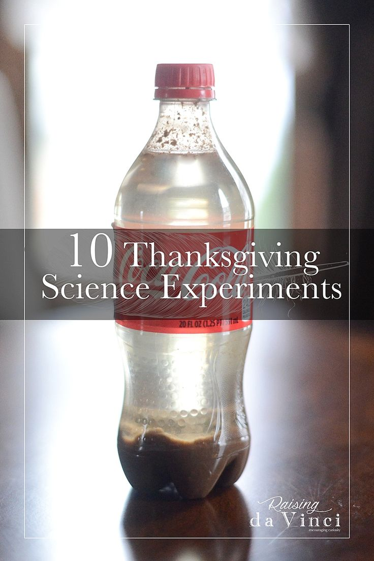 Thanksgiving is NEXT WEEK!!! WOW your family members with these science experiments during meal prep, dinner or even after Thanksgiving!