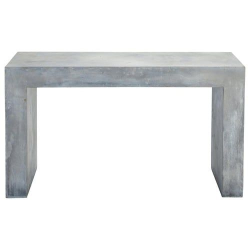Magnesia concrete effect console table in grey W 135cm