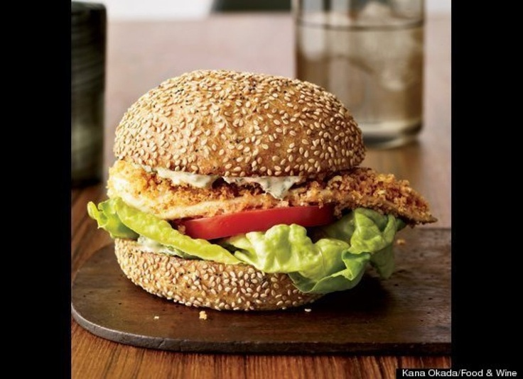 Crispy Fish Sandwiches With Herb RemouladeSeafood Recipe, Healthy Summer Recipe, Healthy Fish Recipe, Crispy Fish, Herbs Remoulade, Remoulade Recipe, Sandwiches Recipe, Fish Sandwiches, Dinner Recipe