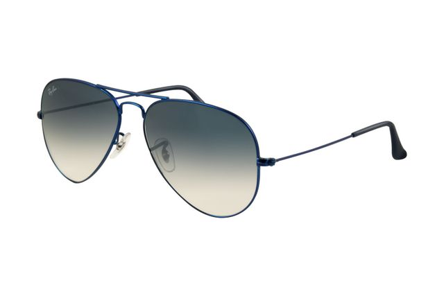 Ray Ban Aviator RB3025 Sunglasses Metal Blue Matte Frame Gradient Light  Blue ACF - Aviator c574041cd007