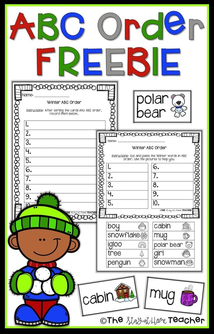 This Abc Order Freebie Is Perfect For Morning Work Centers Small Group Instruction And More Included Are 10 Abc Order Abc Order Worksheet Abc Order Winter [ 1144 x 735 Pixel ]