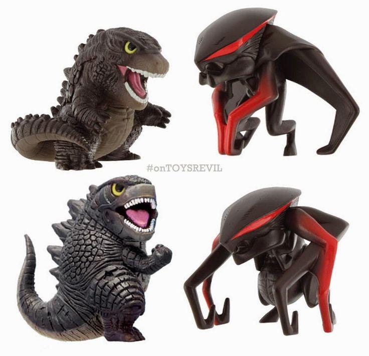 TOYSREVIL: About Those Chibi Godzilla + Muto Figures from Bandai