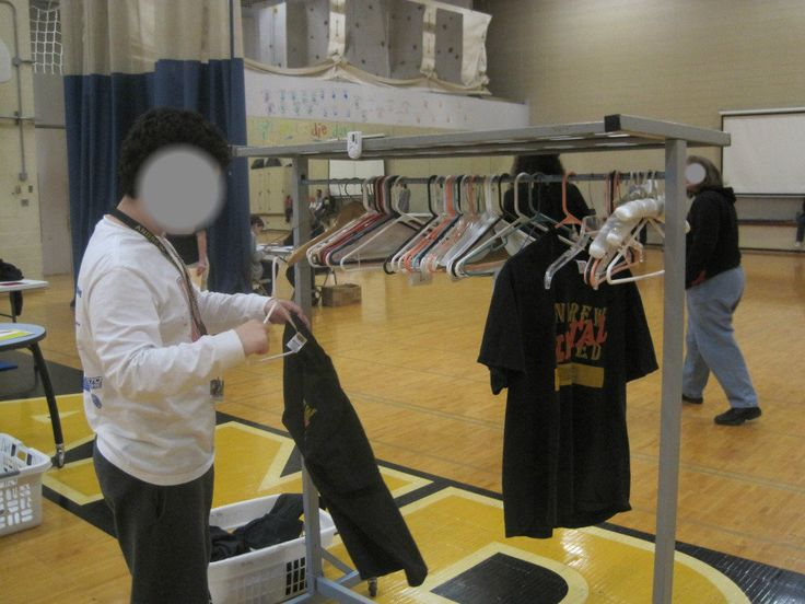 Vocational Tasks - Hanging Clothes by Size - High School Special Education