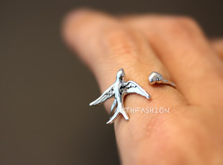 Swallow Ring Unique Animal Ring Jewelry Adjustable Funny
