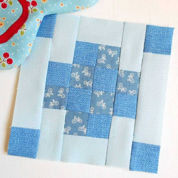 """Block 144 - Lively.  Another patchwork block from """"100 Modern Quilt Blocks""""."""