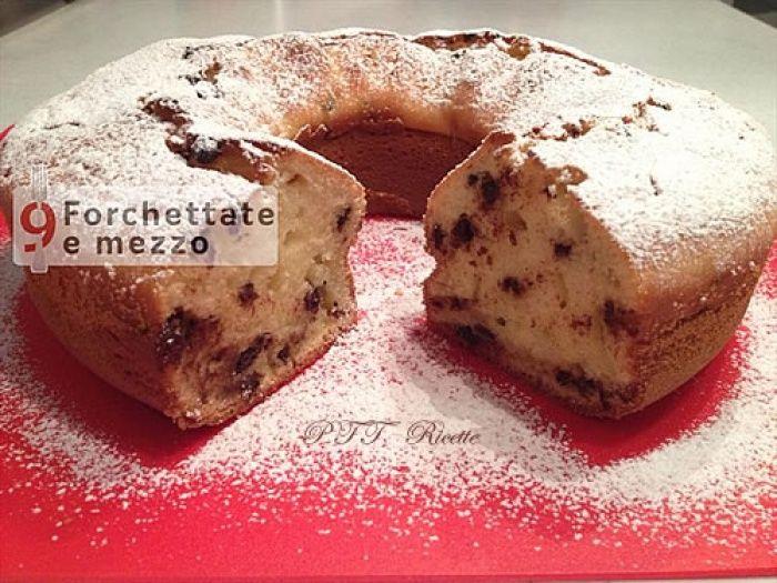 Ciambella con ricotta e gocce di cioccolato   Ricetta Ciambella