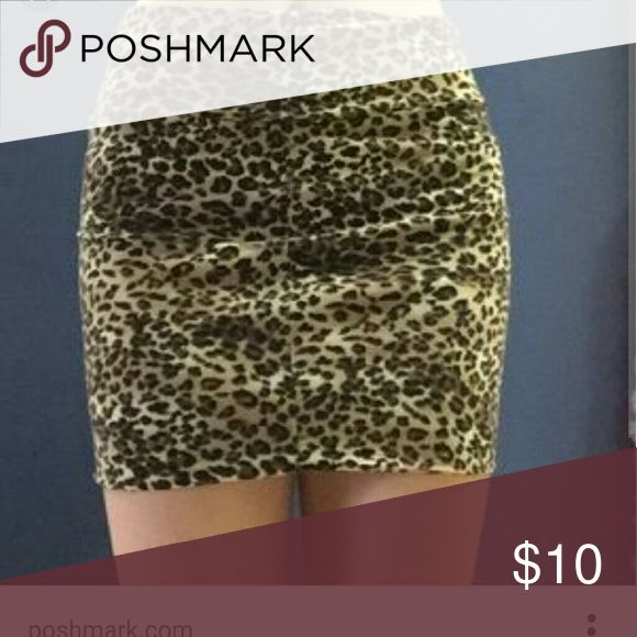 Charlotte Russe Leopard Skirt, size M Leopard skirt by Charlotte Russe. Plenty of stretch in it. Used once for two hours, excellent condition. Size M Charlotte Russe Skirts Pencil