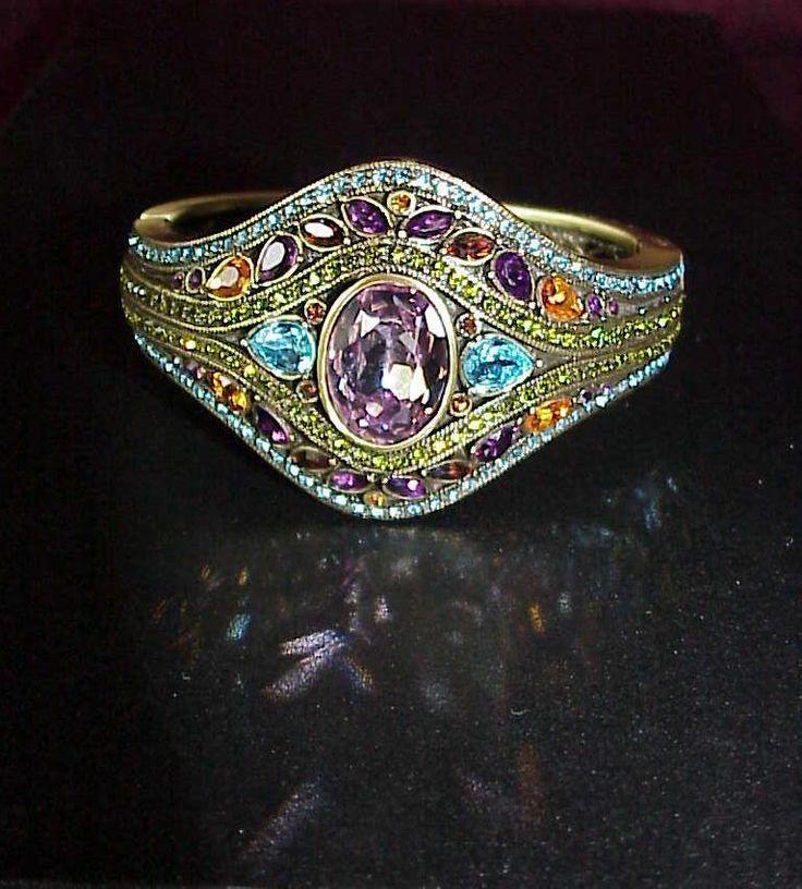 "UNIQUE Heidi Daus Shirli Stunning Crystal-Accented 6-3/4"" Bangle Bracelet #jolies-jewelBling"