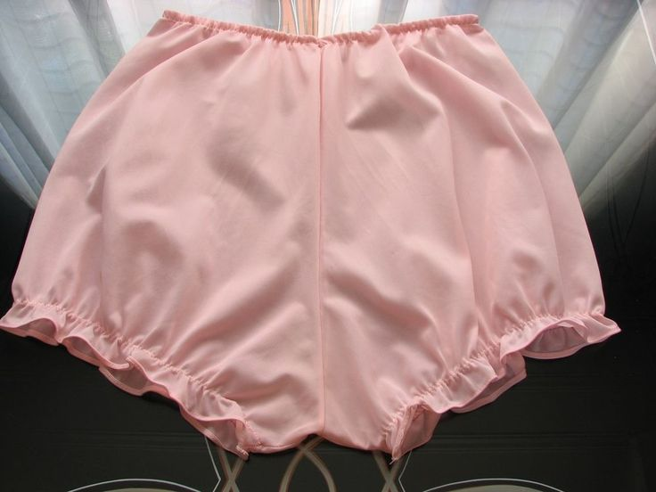 1950's Vintage Pink Nylon Ruffle Granny Panties~Ruffles~Sissy Pants~Adorable! #Unknown