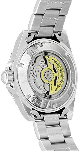 cool Invicta Pro Diver Men's Automatic Watch with Black Dial Analogue display on Silver Stainless Steel Bracelet 8926