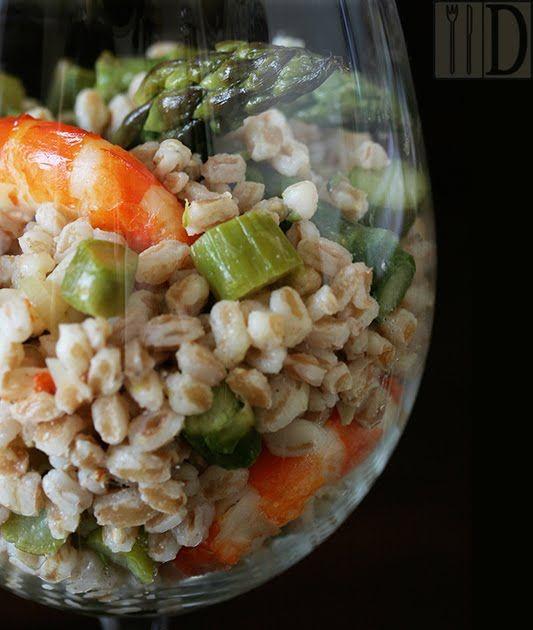 Il Diario Gastronomico: Insalata di farro con asparagi e gamberi