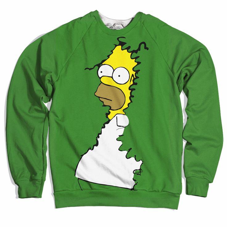 Homer Simpson Bushes Sweater