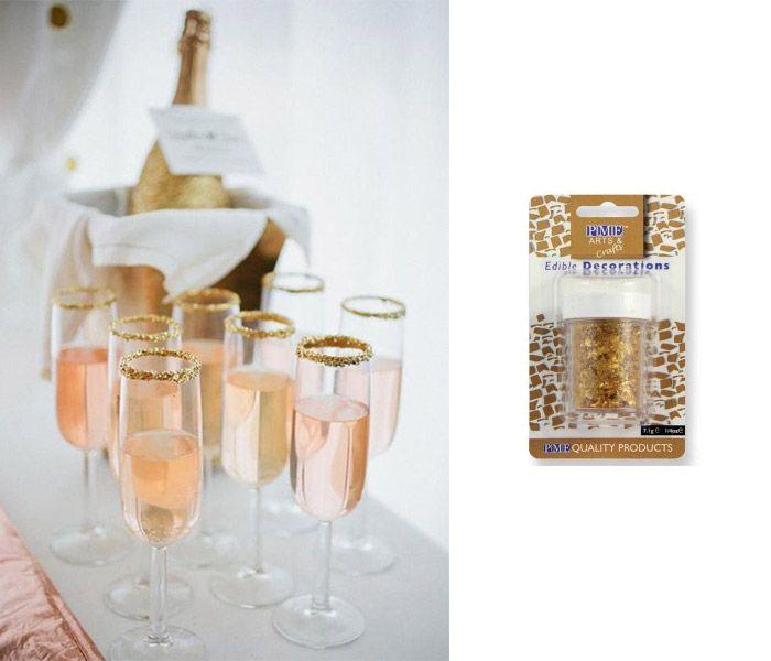 6 lyxiga nyårsdrinkar med guld och glitter | ELLE Decoration