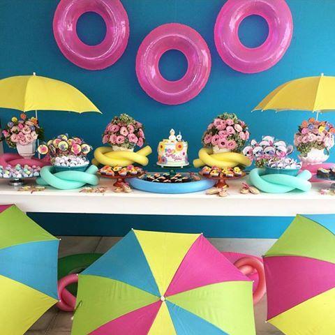 Resultado de imagem para festa na piscina infantil decor for Piscina party